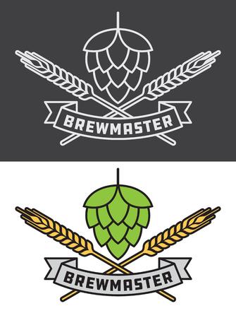 Brew master craft beer design illustration. Illustration