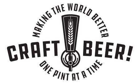 Craft beer draft design illustration.