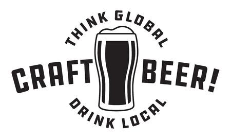 Craft beer draft design illustration. Фото со стока - 89175741