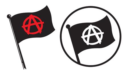 Anarchy Black Flag Icons. Фото со стока - 90417796