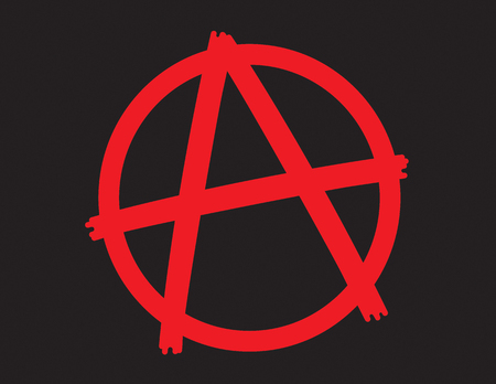 Anarchy Symbol Icon.