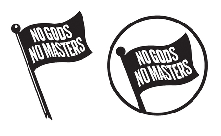 No Gods No Masters Black Flag Icons.