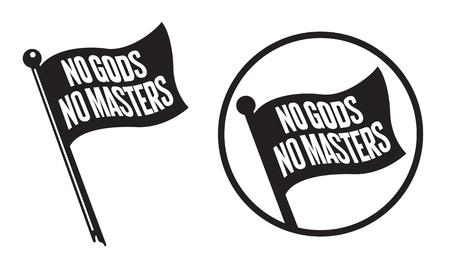 No Gods No Masters Black Flag Icons.