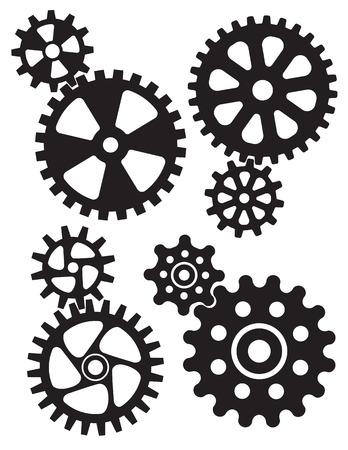 Set of interlocking gears and cogs design. Фото со стока - 92543443