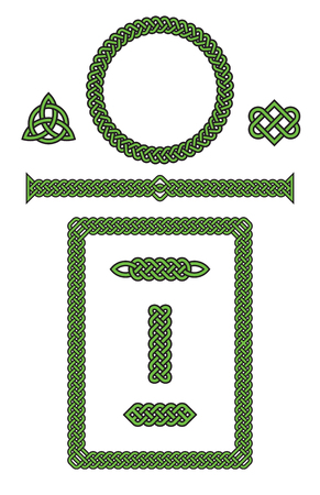 Set of Celtic Knot Design Elements Illustration. Фото со стока - 92543484