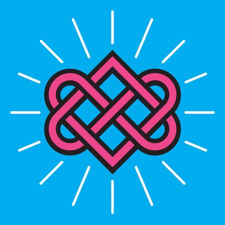 Celtic Love Knot Design on blue background. Фото со стока - 92543493