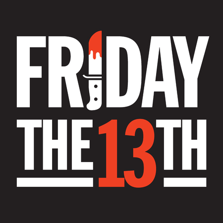 Friday the 13th Vector Design. Great graphic design element