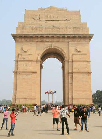 india gate: Delhi, India - February 18, 2015 India Gate in Delhi, India Editorial
