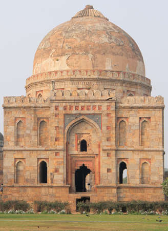 dome of hindu temple: abandon temple in one of districts of Delhi, India