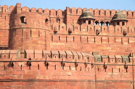 pradesh: world famous Agra Fort, Uttar Pradesh, India
