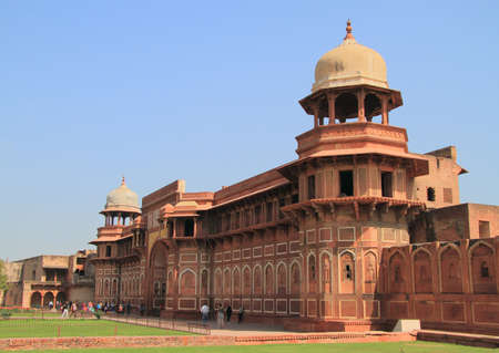 monument in india: jahangiri mahal palace in agra fort, india