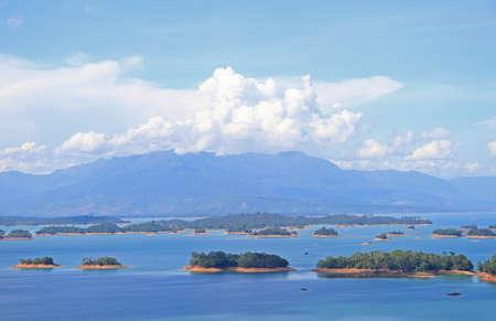 nam: view of Ngum Nam Reservoir in Laos