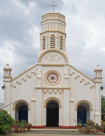christus: catholic cathedral in Savannakhet, city in Laos nearly border with Thailand