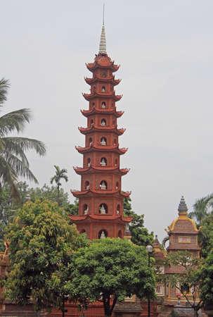 tran: Tran Quoc pagoda in Hanoi, the capital of Vietnam Stock Photo