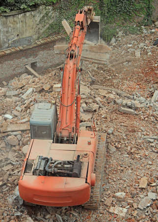 earthwork: excavator does some work in Chongqing, China