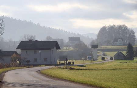 nearly: small village nearly Ljubljana, the capital of Slovenia Stock Photo