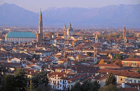 cityscape of Vicenza, Veneto region in northern Italy Stock Photo