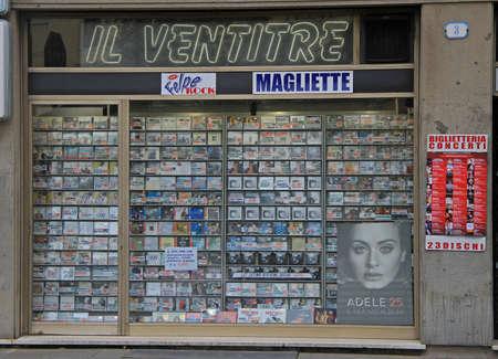 Padoue, Italie - 25 novembre 2015: vitrine du magasin musical à Padoue, en Italie