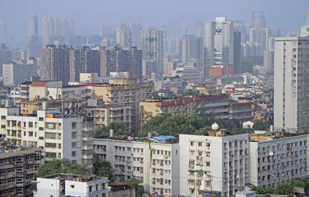 wuhan: cityscape of Wuhan, Hubei province, the central China