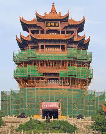 Yellow Crane Tower in Wuhan city, China Stock Photo