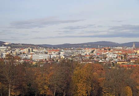 schloss schoenbrunn: the view of austrian capital Vienna, Austria Editorial