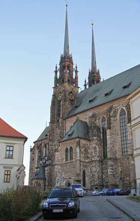 Brno, Czech Republic - November 2, 2015: Cathedral of St. Peter and Paul in Brno, Czech
