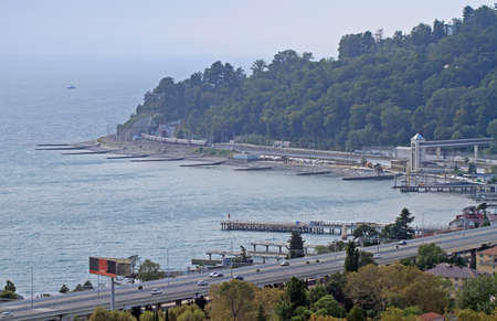 seaside in Khosta district of the greater sochi, Russia Stock Photo