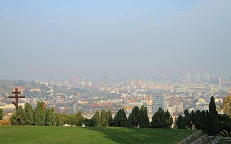 the cityscape of slovakian capital Bratislava in the autumn