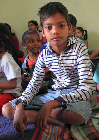 freewill: Jaipur, India - February 23, 2015: boy is visiting center for education in Jaipur, India Editorial