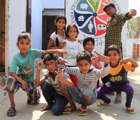 freewill: Jaipur, India - February 23, 2015: children are visiting center for education in Jaipur, India