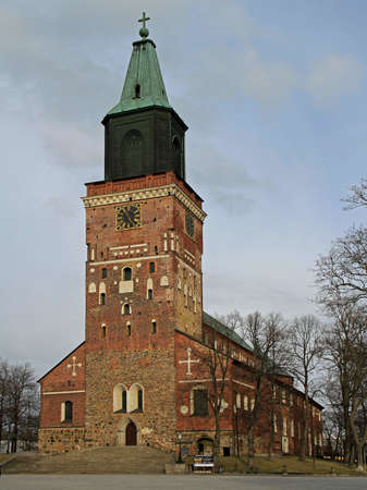 lutheran: Medieval cathedral in center of Turku, Finland