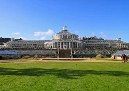 The glasshouse in the Botanical Garden of Copenhagen, Denmark