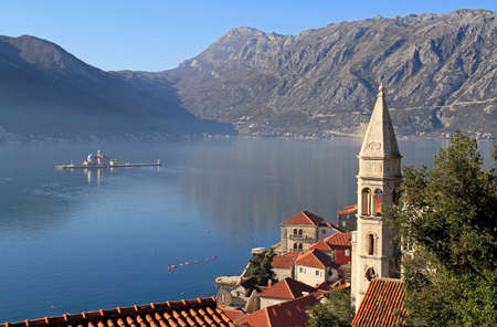 Our Lady of the Rocks is one of the two islets off the coast of Perast in Bay of Kotor, Montenegro