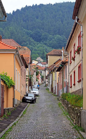 Street in old town of Brasov, Romania