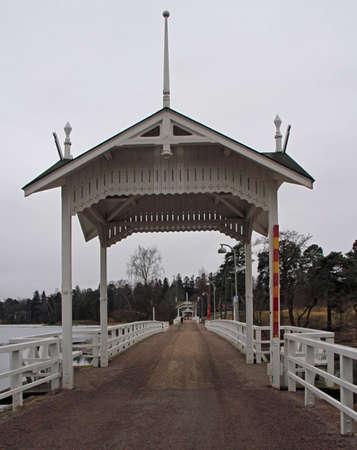 pedestrian bridge to island Seurasaari in Helsinki