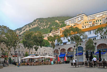 cityscape of city Gibraltar, the british territory