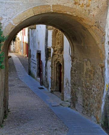 arch gates in hoistorical center of Coimbra