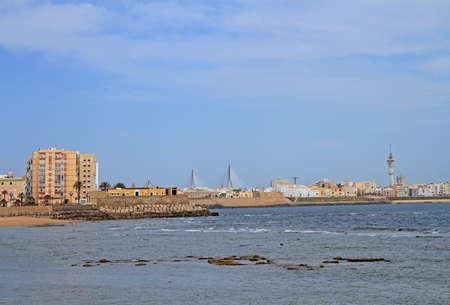 the coastline of the spanish city Cadiz 版權商用圖片