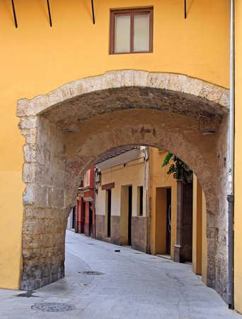 arch passway in the old town of Valencia