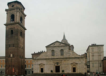 Turin, Italy - December 19, 2019: Cathedral of Saint John the Baptist in Turin Editorial