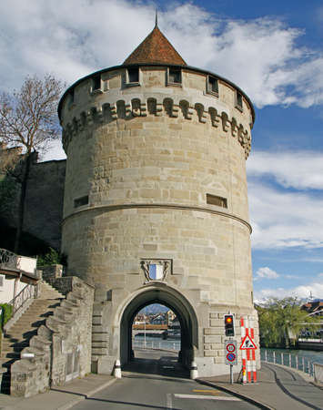 One of the nine towers of the Musegg Wall in Luzern Stockfoto