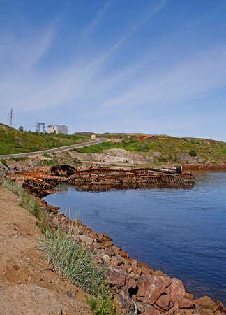 Cemetery of abandoned ships nearby village Teriberka, Russia