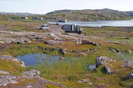 scenery landscape nearby russian village Teriberka in Murmansk region