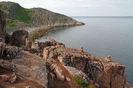 the scenery coastline nearby russian village Teriberka, Murmansk region