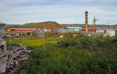 Lodeynoe is new part of Teriberka village in Russia
