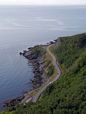 Amazing panoramic view on sea and road