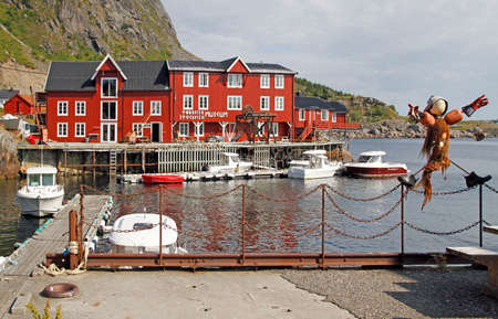 view of fishing village A in Norway