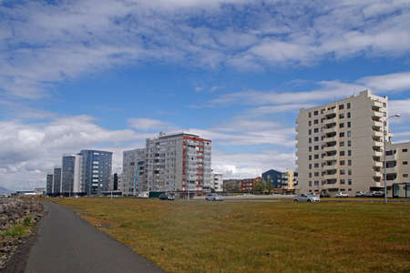 view of residential district in city Reykjavik