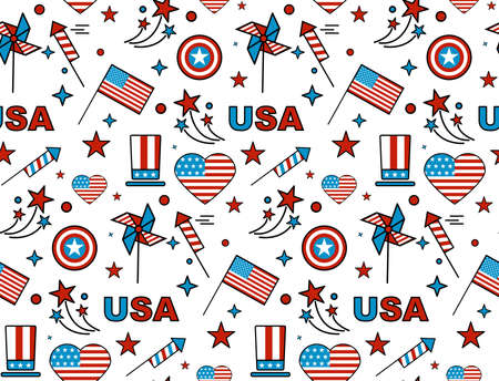 seamless: Comic pattern for Independence Day.
