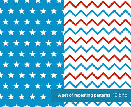 Set of patterns for Independence Day. Vector
